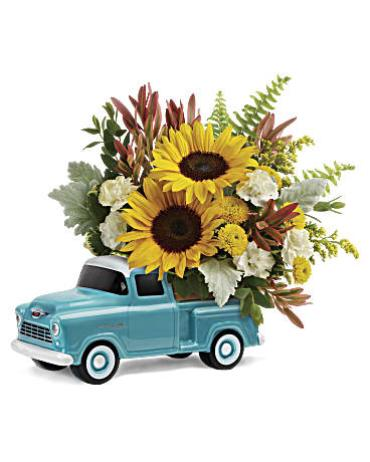 Teleflora\'s Chevy Pickup Bouquet