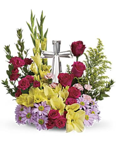 Teleflora\'s Crystal Cross Bouquet