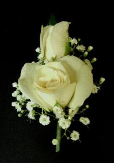 White Rose Boutonieer