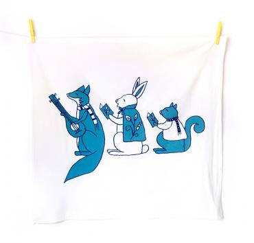 Christmas Tea Towels ( blue )