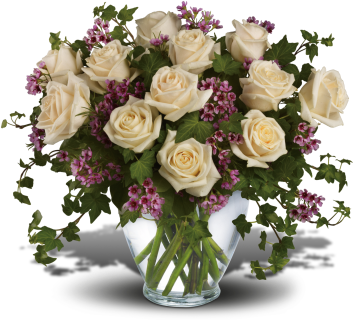 Victorian Romance with 12 White Roses