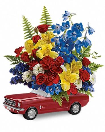 Teleflora\'s \'65 Ford Mustang Bouquet