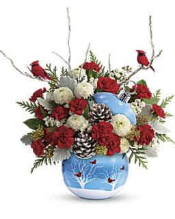 Teleflora\'s Cardinals In The Snow Ornament