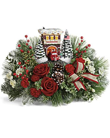 Thomas Kinkade\'s Festive Fire Station