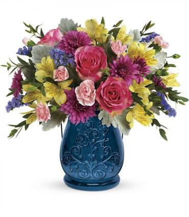Teleflora\'s Burst of Blue Bouquet