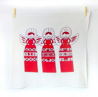 Christmas Tea Towels ( red )